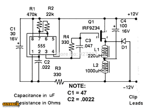 12 Volts Lead Acid Battery Desulfator Assembled Kit Alligator Clip With REVERSE .png